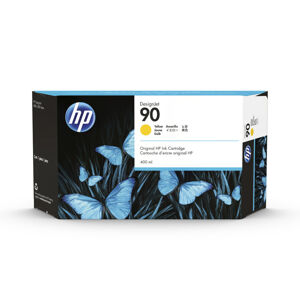 Inkoustová náplň HP 90 žlutá (400 ml) (C5065A)
